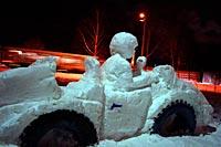 Снежная машина: на ней проводятся экскурсионные осмотры Подмосковья