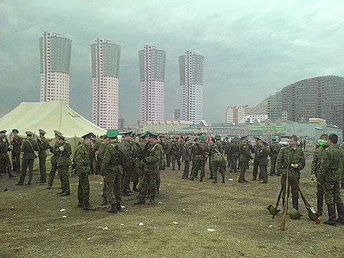 Во время репетиции парада на Ходынском поле