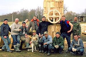 Николай Полисский с единомышленниками в деревне Никола-Ленивец