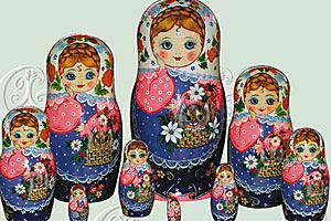 Традиционный русский сувенир Матрешка