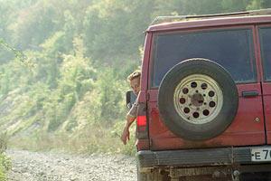 На пограничной дороге в Новороссийск. Тамань. 1997 год.