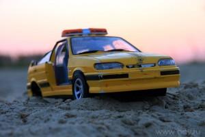 Такси на песчаном пляже