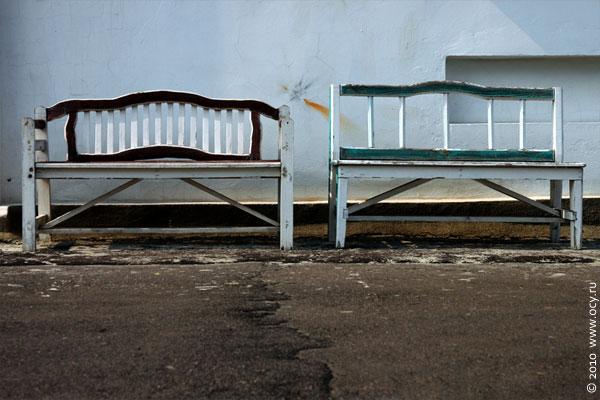 2 скамейки