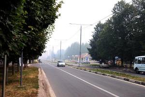 Город Пущино в дыму. 01.08.2010 года.