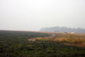 По дороге в Пущино. Дым от пожаров, 1 августа 2010 года.