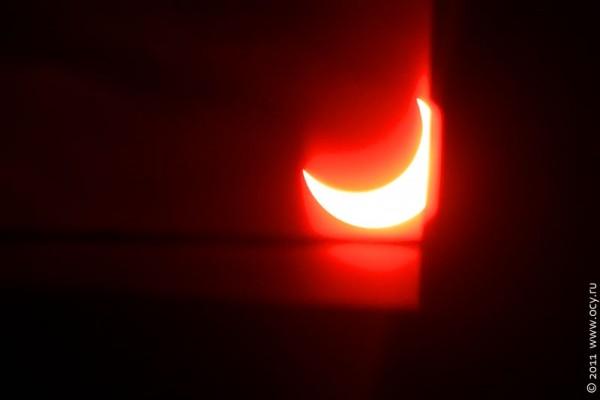 Солнечное затмение 04-01-2011.