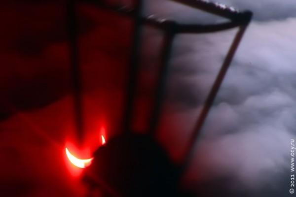Солнечное затмение 4 января 2011 года.