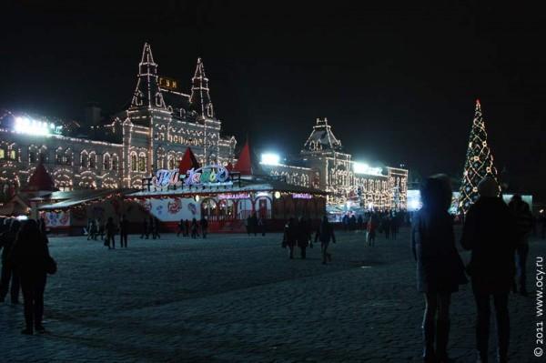 ГУМ-каток на Красной площади. Москва. 2011 год.