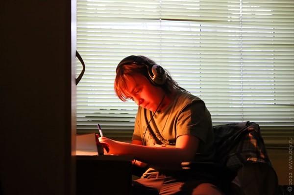 Дистанционное обучение при помощи планшета и скайпа.