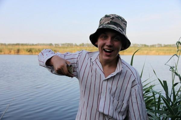 Рыбалка на Кубани. Рыбак Никита.