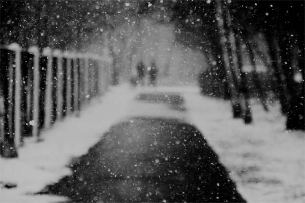Пушкин и Мартынов гуляют по городу Л. в марте.