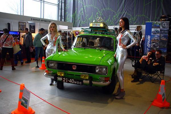 Зелёный Москвич на Олдтаймер-2015.